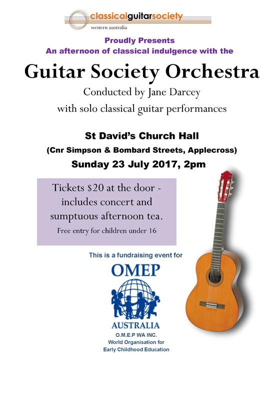 Guitar Society Orchestra performance 23 July 2017